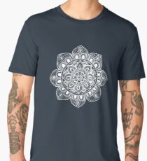 White Mural Mandala - Art&Deco By Natasha Men's Premium T-Shirt