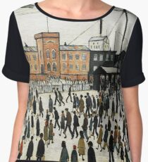 LOWRY, Artist, Matchstick men, Laurence Stephen Lowry, Going to Work  Chiffon Top