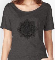 Black Mural Mandala - Art&Deco By Natasha Women's Relaxed Fit T-Shirt