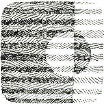 Hand drawing ink square pattern by irishguydesign