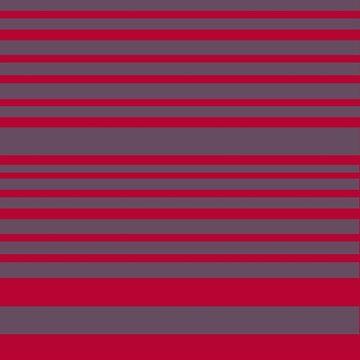Red & Grey Stripes by Manitarka
