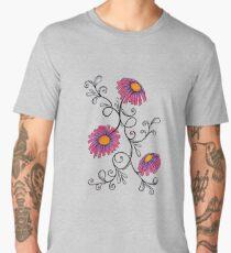 3 Flowers Drawing - Art&Deco By Natasha Men's Premium T-Shirt