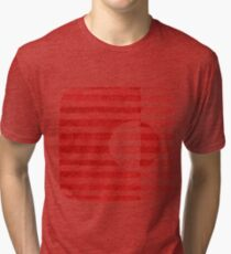 Red Ink Square Circle Design Tri-blend T-Shirt