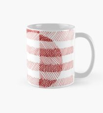 Red Ink Square Circle Design Mug