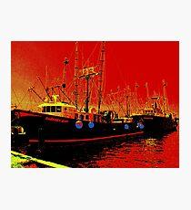 Fishing Boats, Point Judith, RI, USA Photographic Print