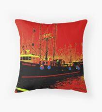 Fishing Boats, Point Judith, RI, USA Throw Pillow