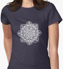White Mural Mandala - Art&Deco By Natasha Women's Fitted T-Shirt