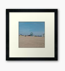Sand, #Sand, Coney Island Beach and Boardwalk, New York City, #ConeyIslandBeach, #Boardwalk, #NewYorkCity Framed Print