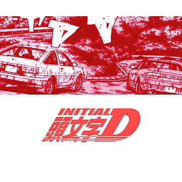 Initial D Red Turn by vertei