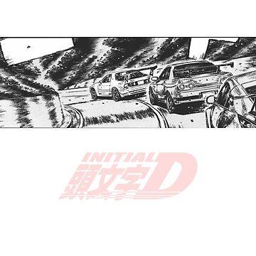 Initial D Threeway Race by vertei