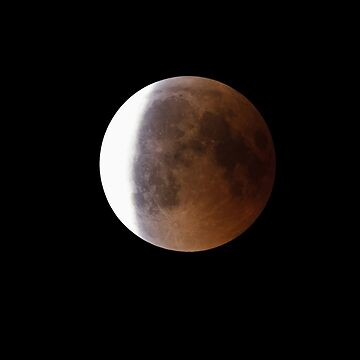 Super Bloody Moon, full eclipse end phase by LukeSzczepanski