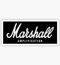 Marshall Amplification on black Sticker