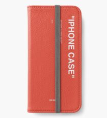 Off White Red iPhone Wallet/Case/Skin