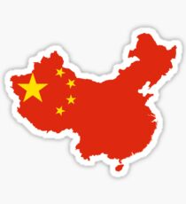 Flag Map of China  Sticker