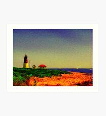 Point Judith Lighthouse, RI, USA Art Print