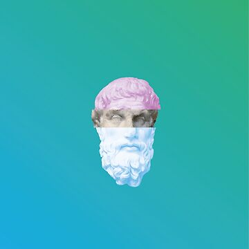 Vaporwave Glitched Statue by gregGgggg