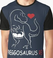 Pregosaurus Preggosaurus Cute Funny Pregnancy Maternity  Graphic T-Shirt