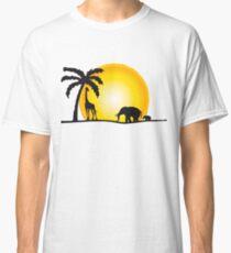Safari Elephant Giraffe Sunset T-shirts Classic T-Shirt