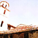 Albania: church roof and bell tower by Giuseppe Cocco