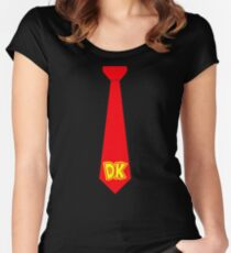 DK Tie - Donkey Kong Tie T-Shirt Women's Fitted Scoop T-Shirt