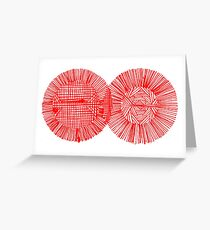 Red Ink Colors Greeting Card