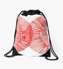 Red Ink Colors Drawstring Bag