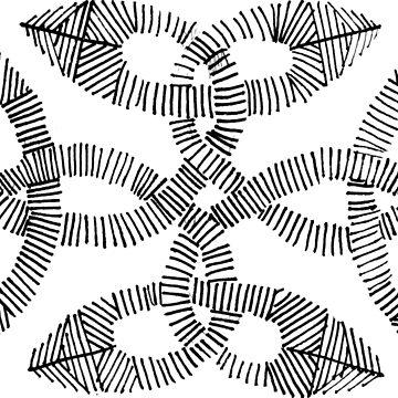 Irish Knot Hand Drawn Ink Pattern by irishguydesign
