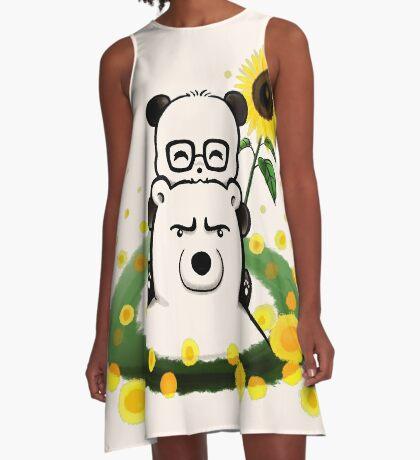 Bears and Sunflowers A-Line Dress