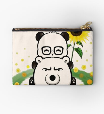 Bears and Sunflowers Zipper Pouch