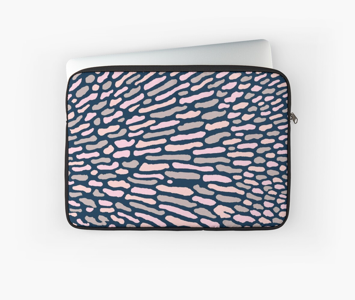 Organic Abstract Navy Blue by SilverPegasus
