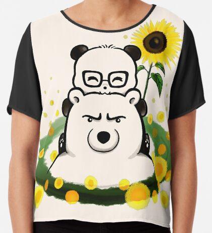 Bears and Sunflowers Chiffon Top