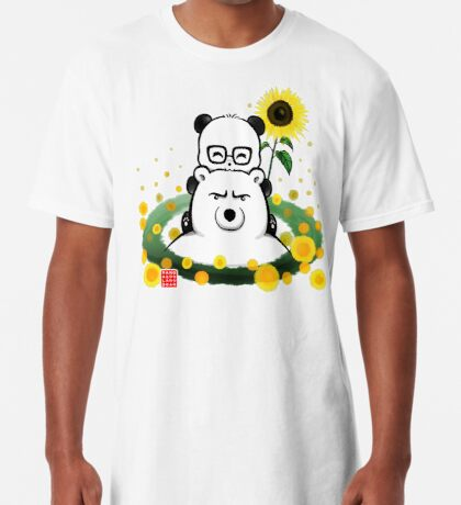 Bears and Sunflowers Long T-Shirt