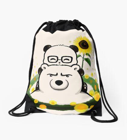 Bears and Sunflowers Drawstring Bag