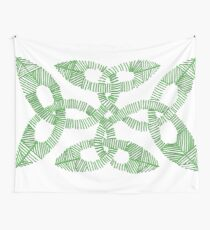 Green Irish Knot Design Wall Tapestry