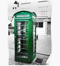 Irish Phone Booth Poster