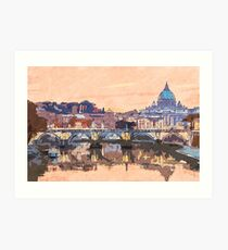 Rome and the Vatican City  Art Print