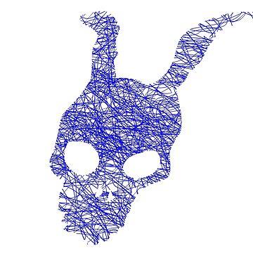 Frank rabbit - blue by jhojho
