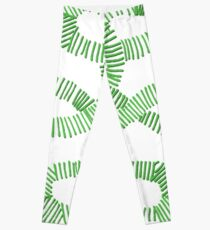 Green Irish Knot Design Leggings