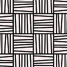 Bold Graphic Memphis Pattern, Black & Pink Blocks & Lines by 5mmpaper