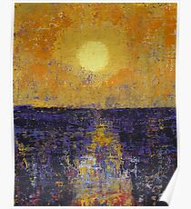 Moonrise over Coligny original painting Poster