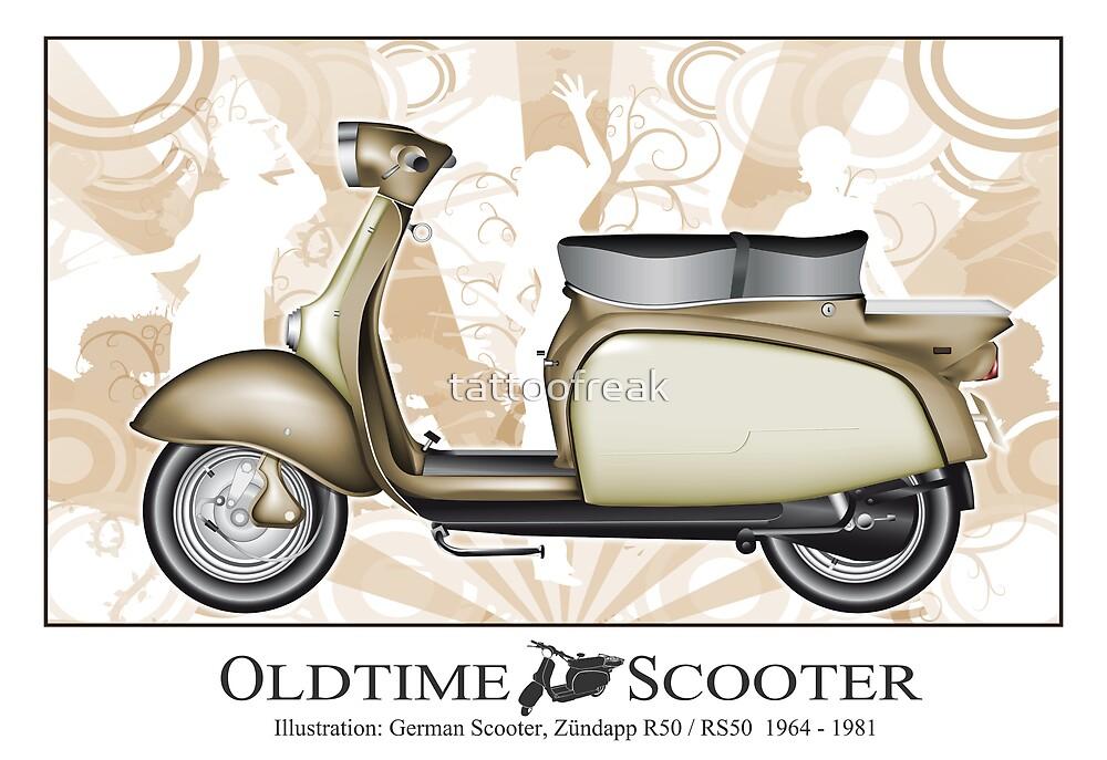 Oldtimer Scooter R50 by tattoofreak