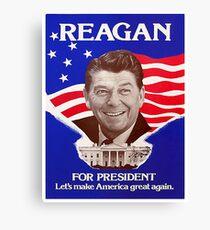 Reagan Bush '84 Retro Logo Rot Weiß Blau Wahl Ronald George 1984 84 Leinwanddruck