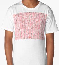 Hand Drawn Ink Pattern Long T-Shirt