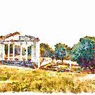 Albania: templum of the archaeological area of Apollonia by Giuseppe Cocco