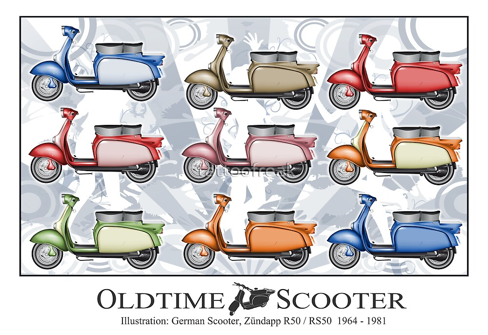 Oldtimer Scooter R50 Variations by tattoofreak