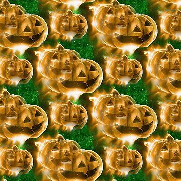 Halloween Pumpkins by CarolineArts