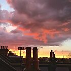 Sunset from my Window by Ludwig Wagner