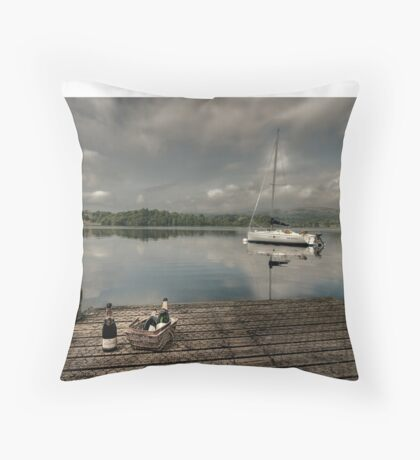 Champagne Yacht Throw Pillow
