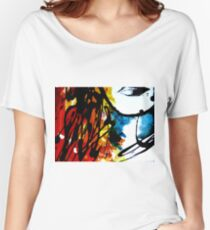 Lips of Dispersion colours Women's Relaxed Fit T-Shirt