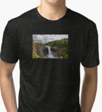 Snoqualmie Falls in Washington State on a cloudy day Tri-blend T-Shirt